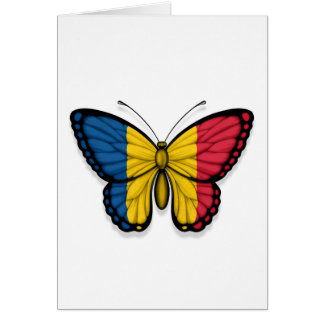 Chad Butterfly Flag Greeting Card