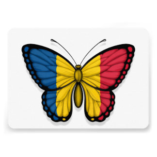 Chad Butterfly Flag Invites