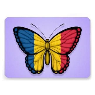 Chad Butterfly Flag on Purple Custom Invitation