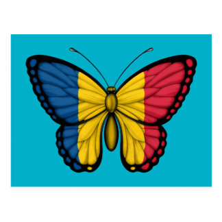 Chad Butterfly Flag Postcard