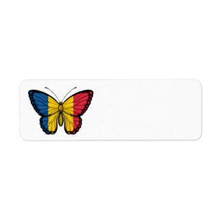 Chad Butterfly Flag Return Address Label