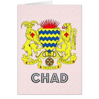 Chad Coat of Arms Greeting Cards