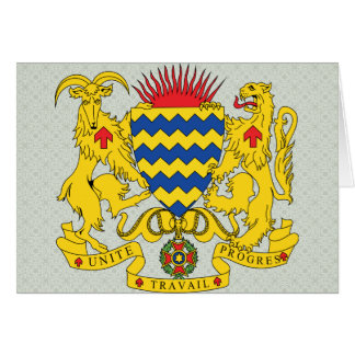 Chad Coat of Arms detail Greeting Card