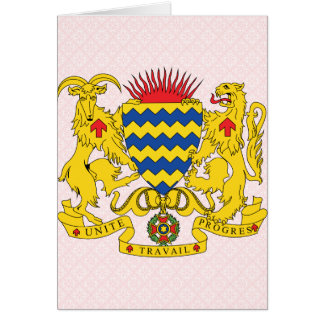 Chad Coat of Arms detail Cards