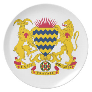 Chad Coat Of Arms Plate