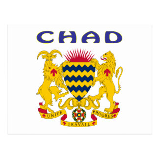 Chad Coat Of Arms Postcard