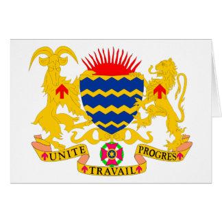 chad emblem greeting card