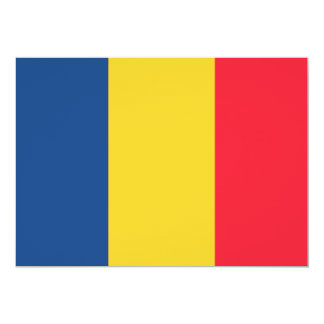 Chad Flag 13 Cm X 18 Cm Invitation Card