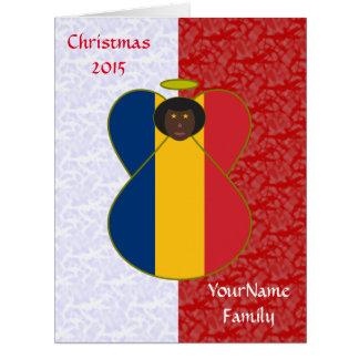 Chad Flag Angel Red White Big Greeting Card