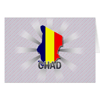 Chad Flag Map 2.0 Greeting Card