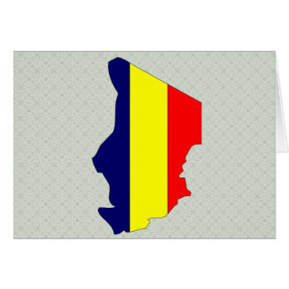 Chad Flag Map full size Cards