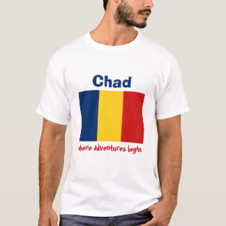 Chad Flag + Map + Text T-Shirt