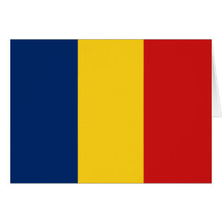 Chad Flag Notecard Note Card