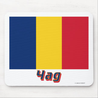 Chad Flag with name in Russian Mouse Pad