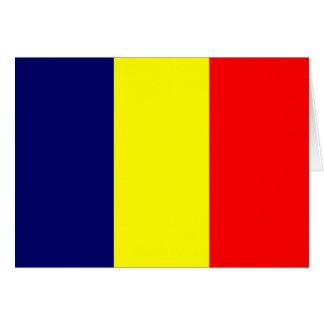 Chad High quality Flag Greeting Card