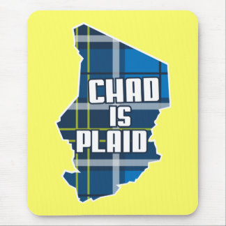 chad is plaid mouse pad