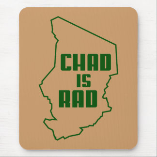 Chad is Rad Outline Green Mouse Pad