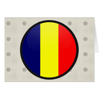 Chad quality Flag Circle Greeting Card