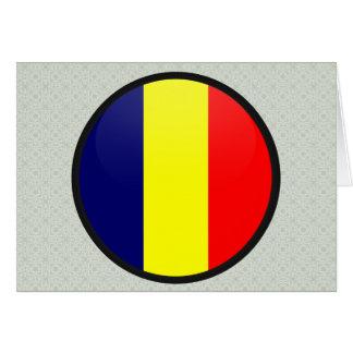 Chad quality Flag Circle Cards