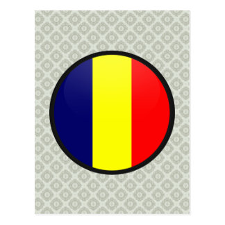Chad quality Flag Circle Post Cards
