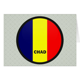 Chad Roundel quality Flag Greeting Cards