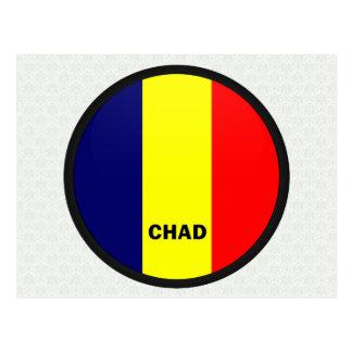 Chad Roundel quality Flag Postcards