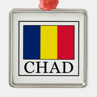 Chad Silver-Colored Square Decoration