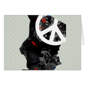 Chad Trendy Peace Sign with Chadian map Greeting Cards