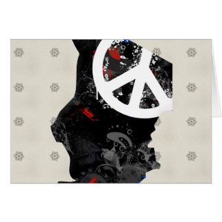Chad Trendy Peace Sign with Chadian map Cards