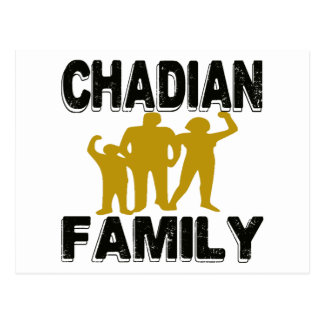 Chadian Family Postcard