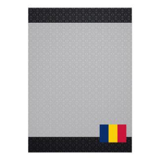 Chadian flag 13 cm x 18 cm invitation card