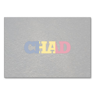 Chadian name and flag table card
