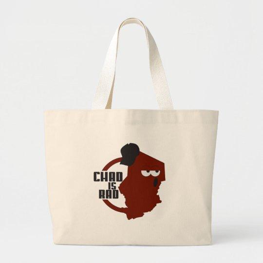 chadisrad.com main logo large tote bag