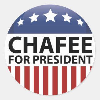 Chafee For President Round Sticker