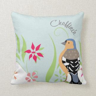 Chaffinch design cushion