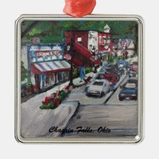 Chagrin Falls Ohio Street Scene Ornamnent Christmas Ornament