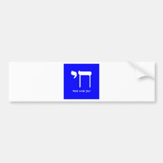 Chai 2, Electric Booga Blue Bumper Sticker