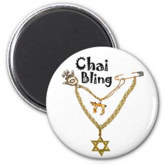 Chai Bling 6 Cm Round Magnet