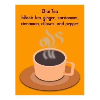 Chai Tea postcard