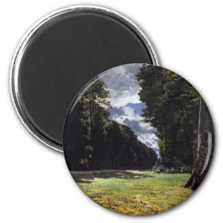 Chailly in the Forest of Fontainebleau (1865) 6 Cm Round Magnet