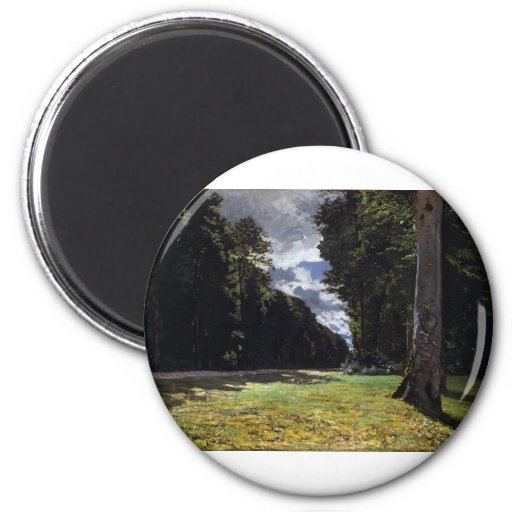 Chailly in the Forest of Fontainebleau (1865) Fridge Magnets