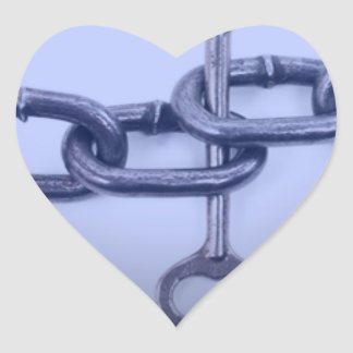 CHAIN AND KEY HEART STICKER