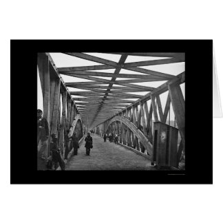 Chain Bridge over the Potomac River 1865 Card