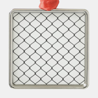 Chain Link Fence Christmas Ornament
