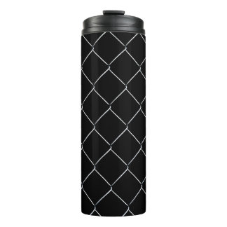 Chain Link Fence Cool Pattern Thermal Tumbler