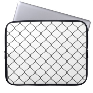 Chain Link Fence Laptop Sleeve