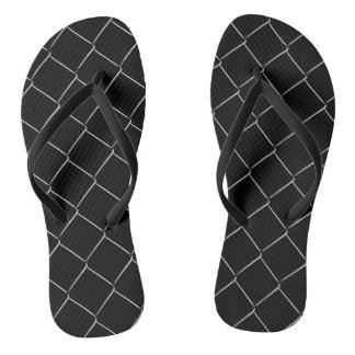 Chain Link Pattern Cool Fun Flip Flops
