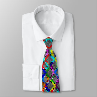 Chain Linked Stained Glass Tie