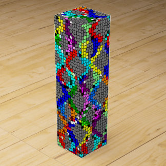 Chain Linked Stained Glass Wine Gift Boxes