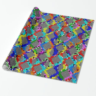 Chain Linked Stained Glass Wrapping Paper